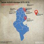 [Infographie] Tunisie: L'activité sismique 2015-2016