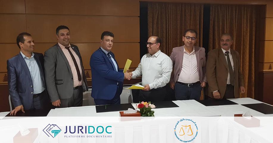 www.juridoc.tn annonce la signature d'une convention stratégique avec la Compagnie des Comptables de Tunisie (CCT) qui vise à faire bénéficier les adhérents d'un accès avantageux à JURIDOC, et d'apporter ainsi aux comptables des solutions intelligentes au